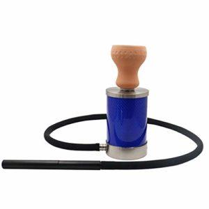 Kit de narguilé simple en acier inoxydable pour tuyau d'eau de narguilé Le meilleur choix pour les fumeurs Club Bar Outdoor, Club Bar Party Event-blue