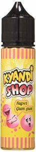 KYANDI SHOP E-Liquide pour Cigarette Électronique 50 ml Super Gumgum sans Nicotine Ni Tabac