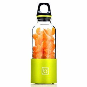 Mdsfe Presse-Agrumes électrique Mini Portable A5B Rechargeable Presse-Agrumes Mélangeur Tamis Presse-Agrumes Fruits Orange Jus Extracteur – Vert, A9