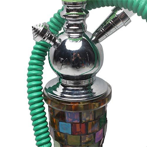OPNIGHDYMD Hookah Shisha Pipe à Tabac déchiqueté, Bouteille mosaïque artificiels, tuyaux et Accessoires de narguilé, adapté for Les Bars, KTV, 74cm