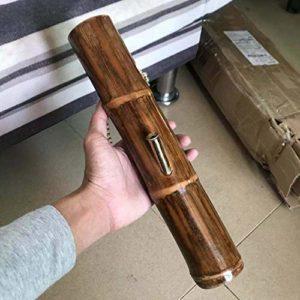 Tuyau d'eau Narguilé droit fait main bambou naturel de soins de santé fumer