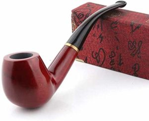 YYF Couramment □ Santal Rouge Classique à la Main détachable 9mm la Pipe de poignée incurvée Pliant (Size : 2)