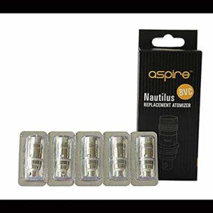 5 Résistances Aspire Nautilus/Mini BVC 0.7/1.6/1.8 ohm – Certifié Aspire avec Scratch Code d'authenticité (0.7)