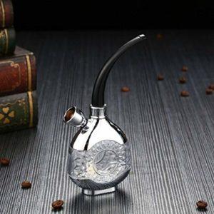 Filtre Hookah Tuyau, Portable en Alliage De Zinc Shisha Set Shisha Cadeau Accessoires De Filtration De La Nicotine Et d'autres Substances Design Mini Polyvalent Narguilé,B