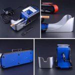 GUOJIN Fulltime Rouleau Automatique Électrique De Cigarette D'injecteur De Tabac De Machine À Rouler Tubeuse Électrique Automatique (Bleu)