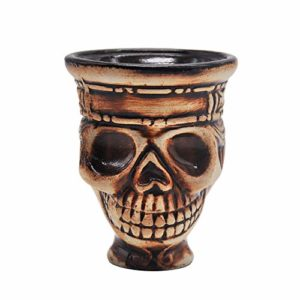 HKYMBM Narguilé Bowl, Crâne Shisha Bowl Shisha Bowl Support De La Tête Accessoires