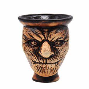 HKYMBM Narguilé Bowl, Porte-Shisha Bol Narguilé Accessoires Céramique Porous Pot Fumée