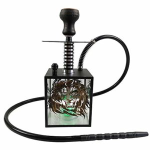 Household appliances Hookah Narguile Shisha SZRP, Narguilé Acrylique Portable, LED Shisha avec Télécommande, Ensemble de Kit de Narguilés Arabes