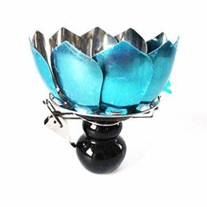 Narguilé Bowl Set, en Acier Inoxydable Lotus Hookah Bowl Bar Cigarette sans Étain Pot Au Charbon Bowl avec Vent Couverture pour Narguilé