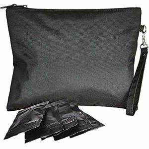 Sac de Déodorant Refermable Sac Ziplock Plat Filtre à Charbon Actif Sac de Rangement de Conteneur Inodore pour Le Stockage Des Aliments de Fête 11X10in