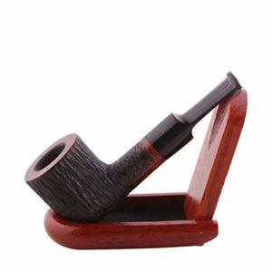 WGZ- en Bois Massif Pipe Façonné rétro Vieux Hommes Tabac Sec Portable Rod Tabac Nest Accessoires Tabac à Pipe (Size : 9.8 * 3.6 * 0.6cm-B)