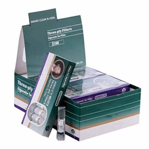 WYJBD Filtres à Usage Unique Cigarette Triple Santé Anti Tar toncars Slim for Les Cigarettes Slim and Roll Ups à Usage Unique – 12 x 10 Packs-filtres for Hommes