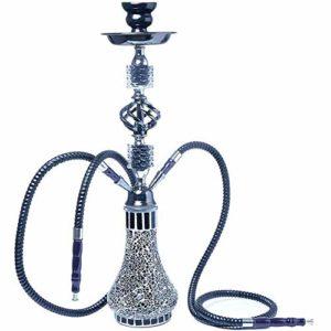 XFY Arabian Moderne Narguilé Chicha, pour Home Party Bar Club Outdoor, Ensemble de Narguilé, Substitut de Tabac sans Nicotine,Noir