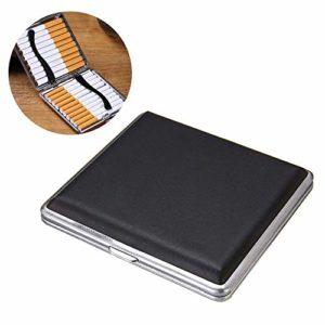 XIAOXIA Porte-étui à Cigarettes en Cuir Cadre en métal pour Cigarette de 20 pièces 84 mm