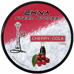 EKNA Pierres à chicha Steam Stones Cherry Cola 120 g – Pierres à vapeur – Narguilé – Pierres à chicha sans nicotine – Sans tabac ni nicotine