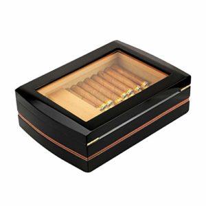 Humidor À Cigares Boîte À Cigares Cigarette En Bois De Cèdre Humidor À Cigares En Bois Avec Un Hygromètre Portable Peut Contenir 75 Cigares Taille: 330 * 230 * 100mm (12.9 * 9.05 * 3.9in)