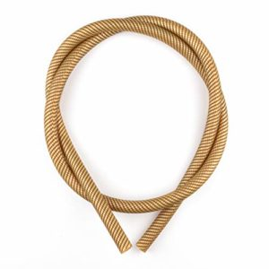 K King'z® Tuyau pour narguilé doré en carbone mat | Tuyau en silicone pour narguilé | Compatible avec tous les embouts et adaptateurs | Accessoires pour narguilé avec eBook