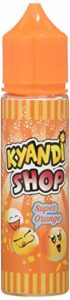 KYANDI SHOP E-Liquide pour Cigarette Électronique 50 ml Super Orange sans Nicotine Ni Tabac