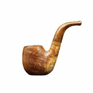 MAYAN en Bois Massif Pipe Façonné rétro Vieux Hommes Tabac Sec Portable Rod Tabac Nest Accessoires Tabac à Pipe Durable (Size : 110 * 52 * 38mm)