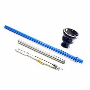 ROYAL SMOKING Chicha stylé design narguilé en acrylique de qualité 38cm Bleu tuyau foyer et assiette