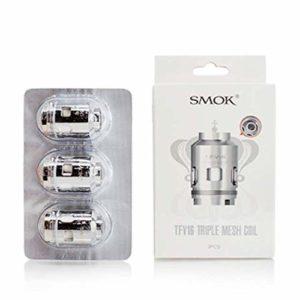 Smok T.F.V.16 Lot de 3 têtes de bobine triple maille sans nicotine