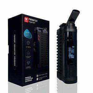 vaporisateur Fenix 2.0 *Noir* pour herbes et résines / cires.. Chambre Titanium + Technologie de convection AIR efficace jusqu'à 220 ° C + Batterie 4400 mAh ET BEAUCOUP PLUS…SANS NICOTINE!!