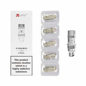 VAPTIO 30W e-cigs Cosmo coil1.6ohm Intégré 1500 mAh Cigarette électronique Vape Kit De Démarrage No E Liquide Non Nicotine (Cosmo 1.6ohm C1)