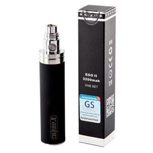Batterie GS pour cigarette électronique CE4 3200mAh eGo II, batterie de grande capacité, kit de démarrage 510 E-Shisha sans nicotine par Discoball®
