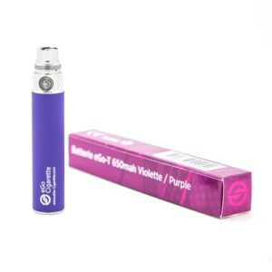 eGo-Cigarette Batterie 650 mAh pour Cigarette Electronique Violet