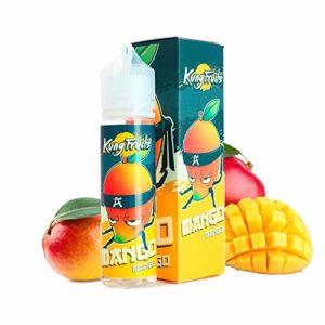 Mango 50ml – Kung Fruits – Sans tabac ni nicotine – Vente interdite aux personnes âgées au de moins de 18 ans – 0 MG – Genre : 40-70 ml
