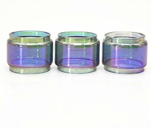 Qingtian-ceg 3pcs Verre Arc-en-Tube FIT for SMOK TFV8 Gros bébé 5ML Atomiseur réservoir Extend Bulle Tube en Verre (Couleur : Rainbow)