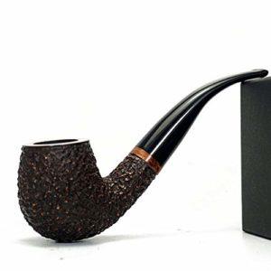 XINGDONG en Bois Massif Pipe Façonné rétro Vieux Hommes Tabac Sec Portable Rod Tabac Nest Accessoires Tabac à Pipe Mode (Color : B, Size : 133MM*45MM*37MM)