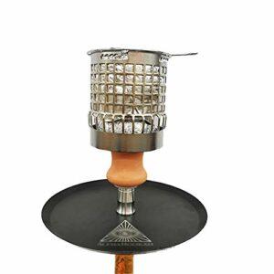 Couverture De Vent De Charbon Pour Narguilé Shisha Bowl Couverture En Maille Métallique Gestion De La Chaleur Accessoires De Narguilé En Acier Inoxydable Support De Charbon Partition De Carbone