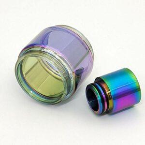 Denghui-ec Tube en Verre Arc-en-Ciel et matériau en Acier Inoxydable adapté au TFV12 Prince 810 TRP TRUP TRUP (Couleur : Rainbow)