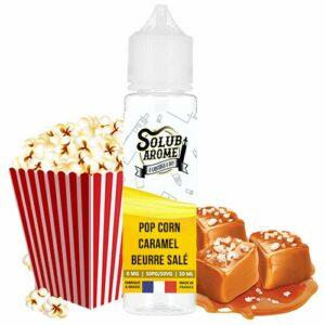 E-liquide Pop corn caramel beurre salé 50ml Solubarome – Sans Tabac et Sans Nicotine
