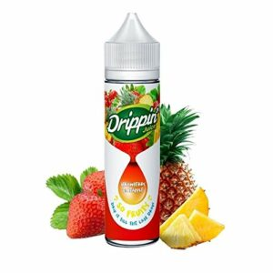 E-liquide saveur Strawberry Pineapple de la marque DRIPPIN JUICE en 50ML – Sans nicotine ni tabac