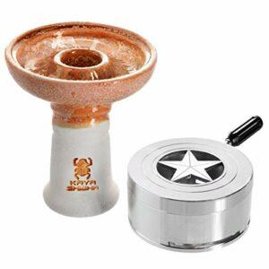 Kaya BigStar Set en céramique Phunnel, Smokebox, Heat Management Accessoires pour Narguilé (Orange)