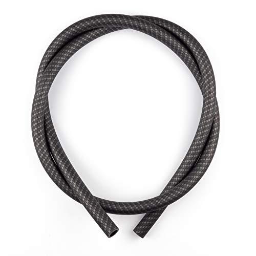 KKing'z® Tuyau de narguilé noir en carbone mat | Tuyau en silicone pour narguilé | Compatible avec tous les embouts et adaptateurs | Accessoires pour narguilé inclus