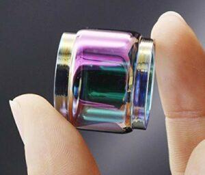 Qingtian-ceg 2pcs Rainbow Remplacement Pyrex EXTENDRE Tube DE Verre Tube Vert for VANDYVAPE Kylin V2 RTA 5ML Réservoir (Couleur : Rainbow)