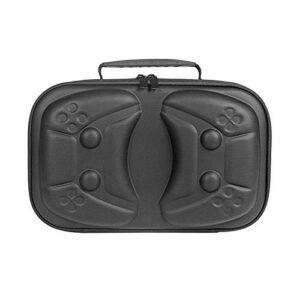 seasonsun Sac de transport pour console de jeu, sac de rangement pour PS5 résistant aux rayures, aux chocs et à la poussière – Avec poche filet et fermeture éclair en métal pour PS5 DualShock