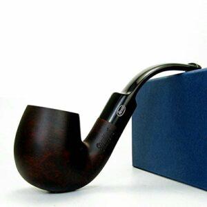 Tuyau à tabac en bois Briar for hommes P Tuyau à tabac vintage Bent Portable Accessoires de cadeaux (Color : E)