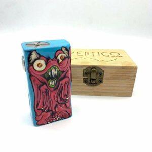 Vertigo Mods Boîte à cigarette électronique en bois stabilisé avec puce SX350J V2 Puissance maximale 40 W Culot 510