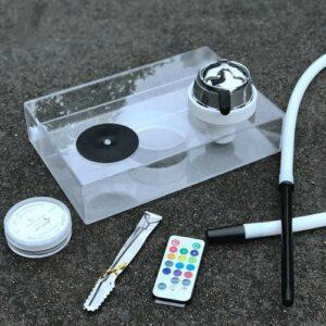 WJMT Hookah Acrylique Kit Ensemble Hookah Portable Shhaha LED Shisha Micro Moderne Acrylique Bubble Bubble – sans Nicotine