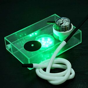 WJMT Hookah LED Hookah Shisha Set, LED Shisha Micro Micro Moderne Bubble Hookah Tuyau d'eau One Tuyau Grosse fumée – sans Nicotine