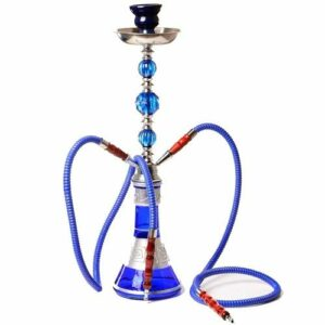 WJMT Hookah Portable Shisha 2 Tuyau Navette Tuyau Complet Set 53cm Sheesha Hookah Set de tuyaux d'eau for Un Meilleur tabagisme narguile (Color : Blue)