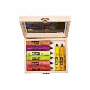 Zap!Juice 8x 10ml e-liquide sans nicotine Vape Juice 8 saveurs | Liquide Vape Unique 0 mg de nicotine (sans boîte, 8 saveurs)
