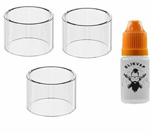 100% AUTHENTIQUE pyrex melo 4 d25 4.5ml (3 pieces) glass tube melo 4 d25 + bouteille vide elikvap 10ml sans tabac sans nicotine.