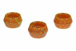 Armerah Lot de 3 anneaux Drip Tip pour Smok TFV16/TFV-Mini V2 en résine époxy Orange