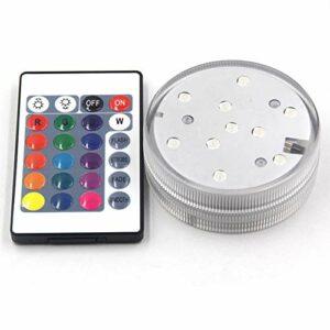 CJCJ-LOVE Lumières LED avec 10 Ampoules LED, Accessoires De Narguilé Lumières De Bain À Remous, Changement De Couleur De Fond De Bouteille