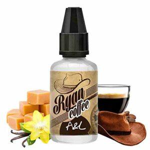 Concentré Ryan Coffee 30ml – A&L – Sans tabac ni nicotine – Vente interdite aux personnes âgées au de moins de 18 ans – 0 MG – Genre : 20-30 ml